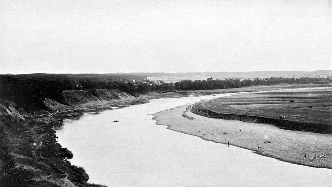 Москва-река у деревни Барвихи (прежней Борихи), 1929 год